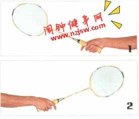 羽毛球正手握拍图示教案,正手握拍的技术动作