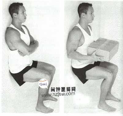 坐在隐形的椅子上练股四头肌和腘绳肌的方法