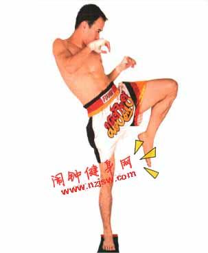 前后腿冲膝练习—泰拳腿技2