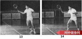 正手上网推直线球的正确练法教学图解