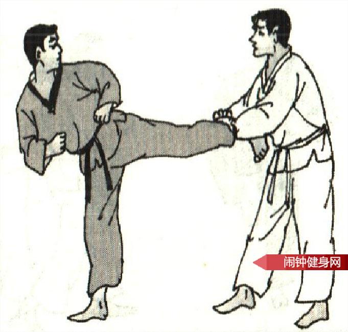 跆拳道《侧踢旋转踢接侧踢心窝》图解教学www.nzjsw.com