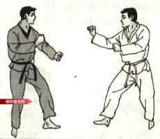 跆拳道《半月踢后踢接击颌》图解教学