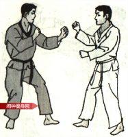 跆拳道《踢腹踢脖接侧踢上腹》图解教学