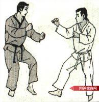 跆拳道《侧踢旋转踢接侧踢心窝》图解教学