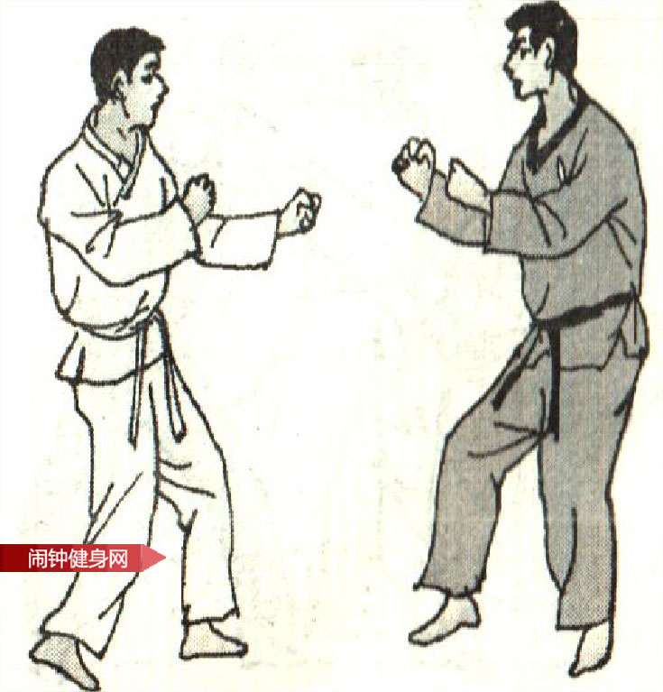 跆拳道《防前踢接踹腹踢脖反击 》图解教学