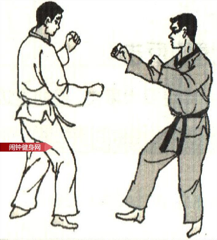 跆拳道《跳防跳踢接转踢腹反击 》图解教学