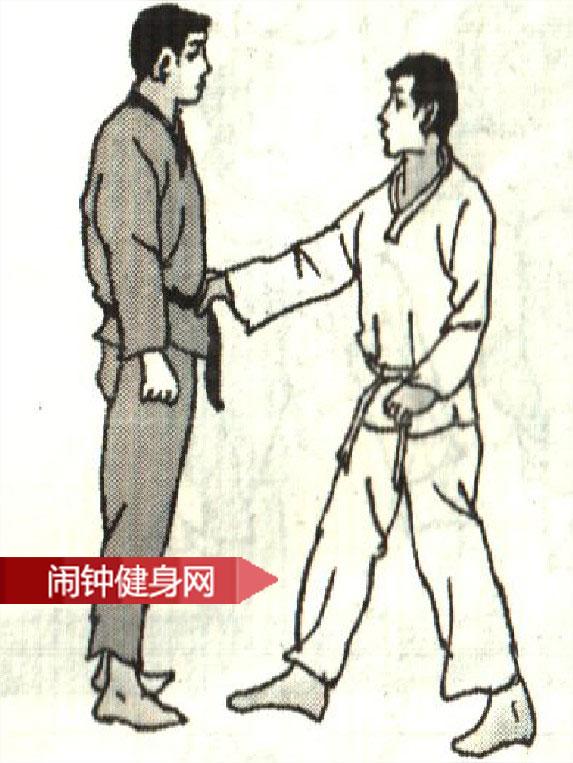 跆拳道《解脱抓腰带反折腕》图解教学