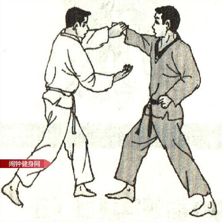 跆拳道《拳击后腰破抓臂别腿》图解教学