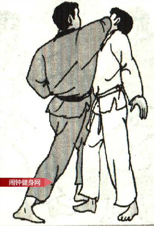 跆拳道《踢腹砍脖膝顶接肘击颌》图解教学www.nzjsw.com