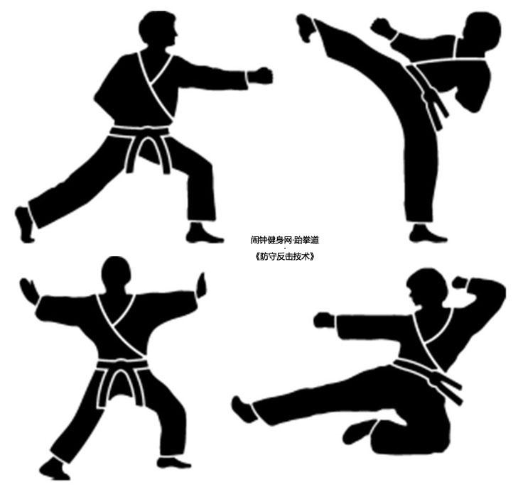跆拳道防守反击技术(18个动作)图解教学
