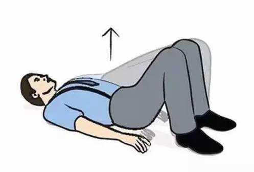 臀部拱桥,锻炼部位:臀大肌、大腿肌肉力量