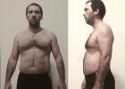 大叔在家徒手训练减掉22斤,练出腹肌仅用了15周